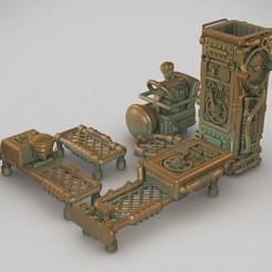 STL file Dieselpunk conveyor, Alphonse_Marcel