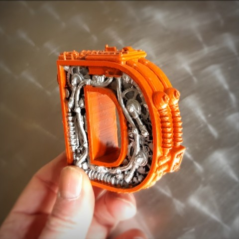 Télécharger fichier 3D Steampunk Letter D., Alphonse_Marcel
