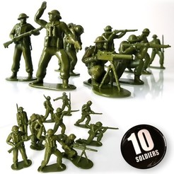 Download STL British soldiers pack, Alphonse_Marcel