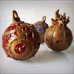 Télécharger plan imprimante 3D Christmas decorations, Boules de Noel., Alphonse_Marcel