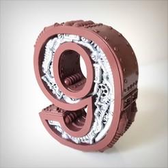 Télécharger fichier imprimante 3D Steampunk number, Alphonse_Marcel