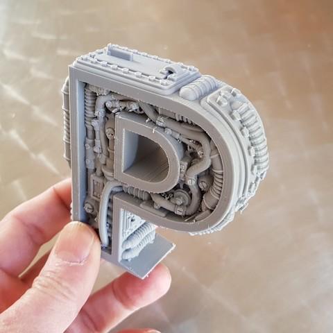 Download 3D printing files Steampunk Letter P, Alphonse_Marcel