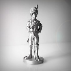 Download 3D printer designs Pack of 4 Napoleonic soldiers., Alphonse_Marcel