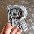 Modelos 3D STEAMPUNK LETRA R., Alphonse_Marcel