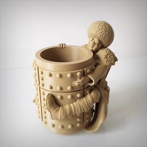 3D printer models Afro pen holder., Alphonse_Marcel