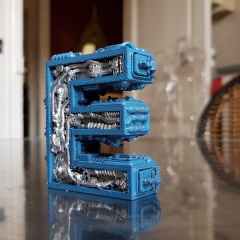 Modelos 3D Letra del alfabeto E Steampunk, Alphonse_Marcel