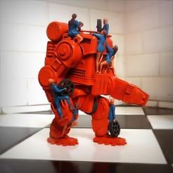 Télécharger plan imprimante 3D Retro-futuristic robots, Alphonse_Marcel