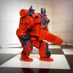 Download 3D print files Retro-futuristic robots, Alphonse_Marcel