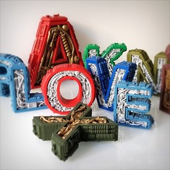 Download 3D printer designs Steampunk Alphabet, Alphonse_Marcel