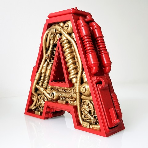 3D print files Letter A Steampunk, Letter A, Alphonse_Marcel