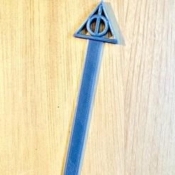 Télécharger STL gratuit Marque-pages Reliques de la mort Harry Potter, yjusot