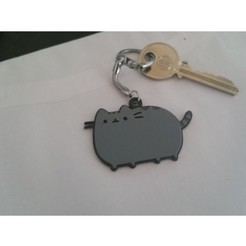 Free stl Pusheen key ring, Maz_against
