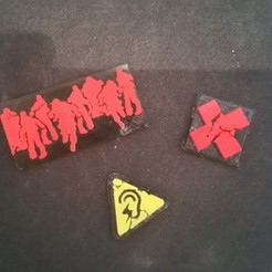 Free 3d print files zombicidal tokens S1, Maz_against