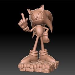 sonic_render.jpg Télécharger fichier STL Sonic  • Objet pour impression 3D, Monsieur_H