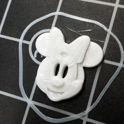 Impresiones 3D gratis El botón de la cabeza de Minnie, ericrin59