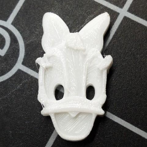 Plan imprimante 3D gatuit bouton tête de Daisy, ericrin59