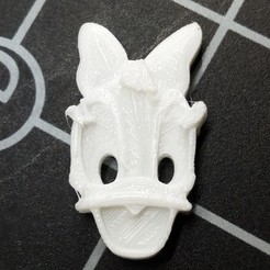 Free 3D printer model Daisy's head button, ericrin59