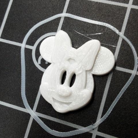 Fichier impression 3D gratuit bouton tête de Minnie grand model, ericrin59
