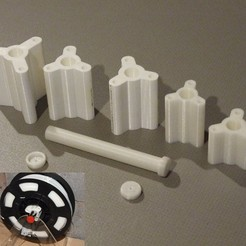 3D print files Spool Holder Hub Adapters, PlanetBlue