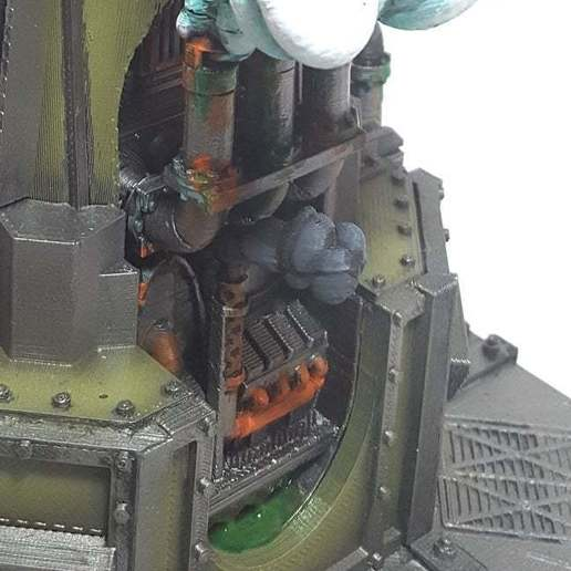 exhaust_closeup.jpg Download free STL file Big Plasma Cannon Turret • 3D printing design, JtStrait72