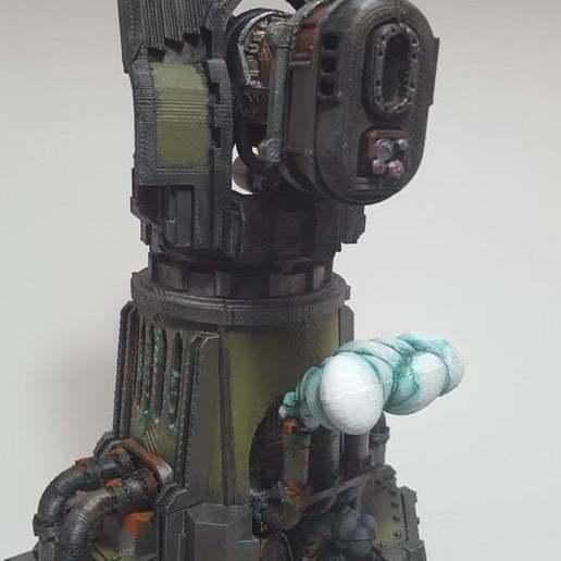 30952117124_fe51f5f745_o.jpg Download free STL file Big Plasma Cannon Turret • 3D printing design, JtStrait72