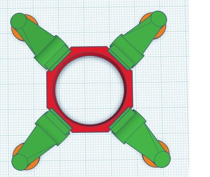 yurantula_legset2.png Download free STL file Automated Weapon Platform Mod kit (Tarantula) • Model to 3D print, JtStrait72