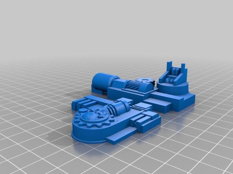 358bb47c90cd2d667e612e07657e8b97.png Download free STL file Big Plasma Cannon Turret • 3D printing design, JtStrait72