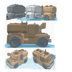 "cover.png Download STL file 40K CIVILIAN VEHICLE-""DELIVERY TRUCK-LIQUID TANK"" • 3D printing design, JtStrait72"