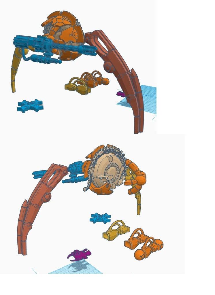 dl_parts_2.png Download free STL file Serap-ta-tek BMF walker for Iron Undead • 3D printer model, JtStrait72