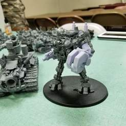 Download free 3D printer model Ork Warlord or Ghaz using a Dreadknight, JtStrait72