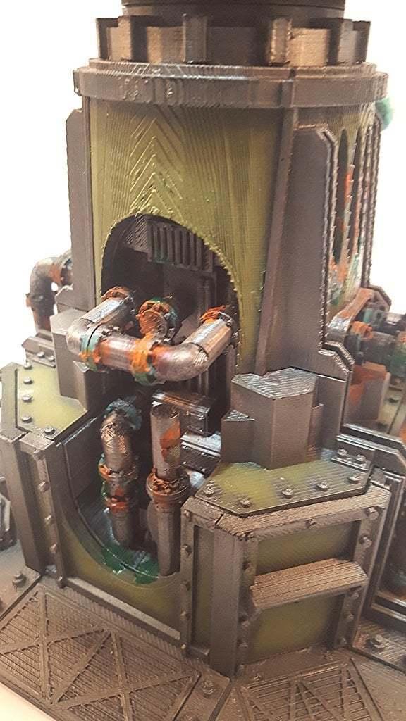 front_end.jpg Download free STL file Big Plasma Cannon Turret • 3D printing design, JtStrait72