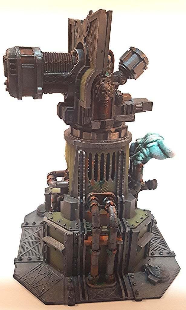 cmplted_left.jpg Download free STL file Big Plasma Cannon Turret • 3D printing design, JtStrait72