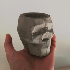 Download STL file skull mould skull pot cement • 3D printable object, Nicolaspelayo1