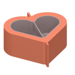 Download STL file Heart pot mould - Heart pot mould • 3D print design, Nicolaspelayo1
