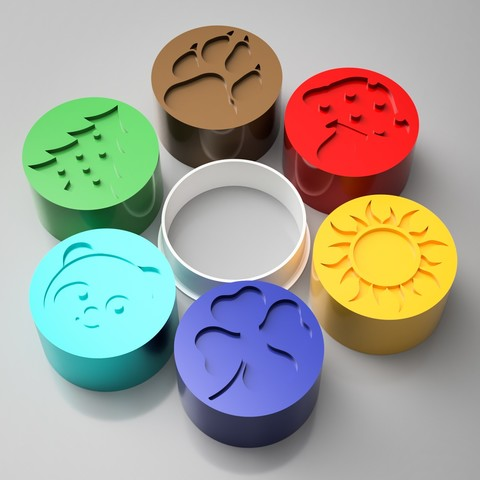 Download 3D printing models Cookie Cutter Stamp set, simonprints