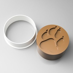 3D print files Paw Cookie Cutter Stamp, simonprints
