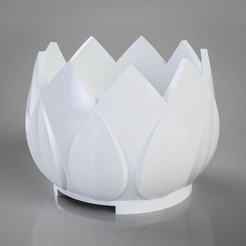 3D printer files Leaf Crown Pot, simonprints