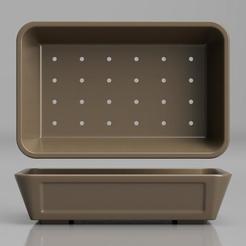 render1.jpg Télécharger fichier STL Bonsaï Pot - Modèle 3D rectangulaire • Objet imprimable en 3D, simonprints