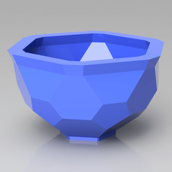 render2019.png Download STL file Hexagonal Pattern Bowl/Pot • 3D print object, simonprints