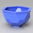 render2019.png Download STL file Hexagonal Pattern Bowl/Pot • 3D print object, simonprints