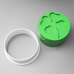3d printer model Four-leaf Clover Cookie Cutter Stamp, simonprints