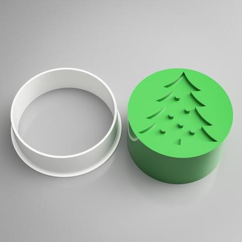 Archivos 3D Sello para Cortar Galletas del Árbol de Navidad, simonprints