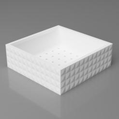 pot1.png Download STL file Square Bonsai/Succulent Pot 3D Model • 3D printing object, simonprints