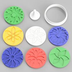 Descargar archivos 3D Juego de sellos de los cortadores de galletas modelo 3d, simonprints