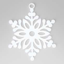 snowflake.png Download STL file Christmas Tree Snowflake Decoration • 3D printable design, simonprints