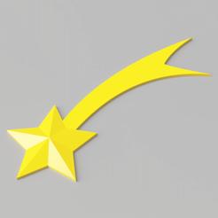 shooting-star.png Download STL file Christmas Tree Shooting Star Decoration • 3D print object, simonprints