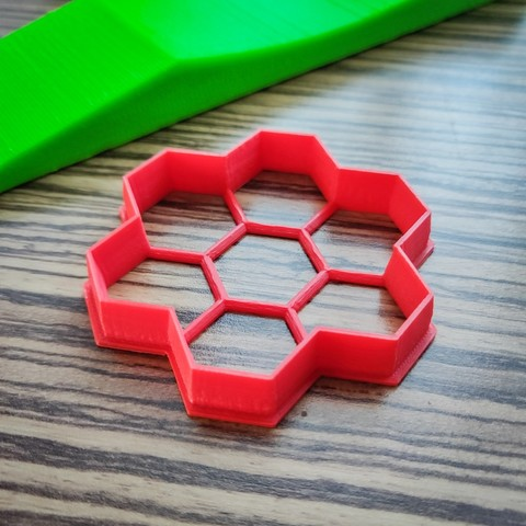 Download STL files Honeycomb Cookie Cutter, simonprints
