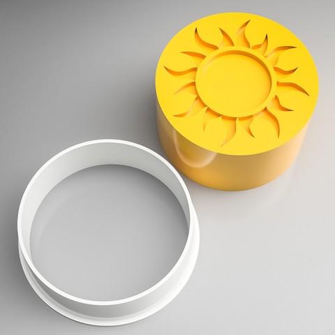 Diseños 3D Sello Cortador de Galletas Sun, simonprints