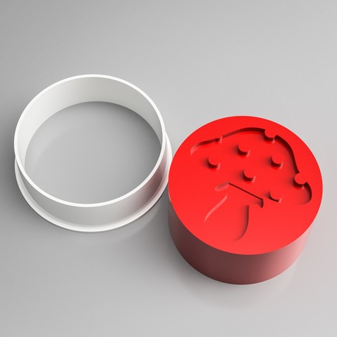 Impresiones 3D Sello para cortar galletas de champiñones, simonprints