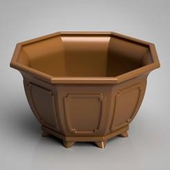 render1-2.jpg Download STL file Bonsai Pot Cascade Polygon Style 3D Model • 3D printable design, simonprints
